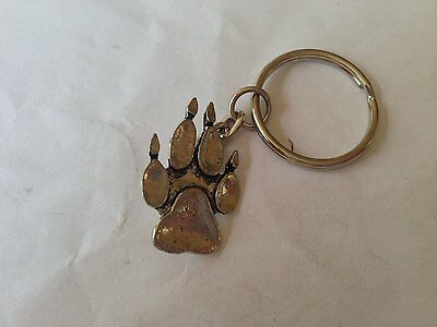 A67 Paw Print English Pewter Emblem On A Tie Clip 4cm Long Jewelry & Watches Fashion Jewelry