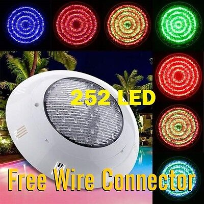 New* 252 Led Swimming Pool Strong Light Rgb  With 7 Colour  Remote Control