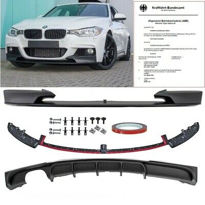 BMW F30 F31 PERFORMANCE Front Spoiler Rear Diffusor Splitter M-Tech Sport Bumper