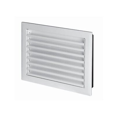White Metal Air Vent Grille with Flange Heavy Duty Ducting Ventilation Cover MP
