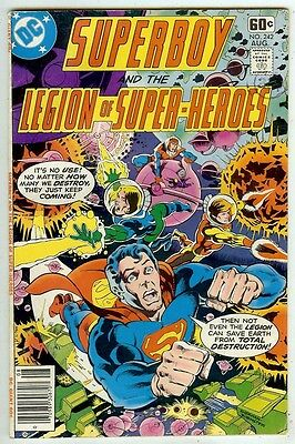 Superboy & Legion of Super-Heroes #242 (1978 vf 8.0) 48 page issue