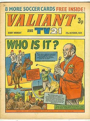 Valiant 12th Oct 1971 (high grade copy) Star Trek, Kelly's Eye, Steel Claw