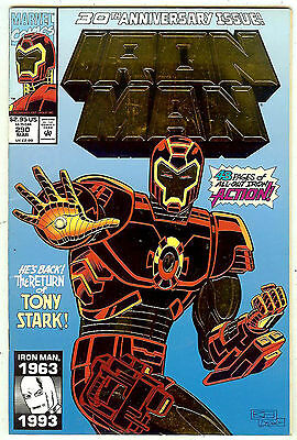 Iron Man #290 (1993, vf 8.0) gold embossed card cover - 48 page 30th anniversary