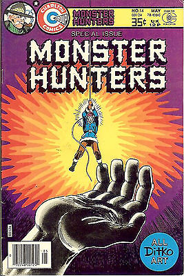 Monster Hunters #14 (1978; vf- 7.5) classic Steve Ditko art throughout