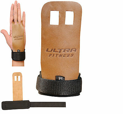 Crossfit Grips Leather Palm Protectors Hand Grips Guards Gym Gloves Pull Up Lift