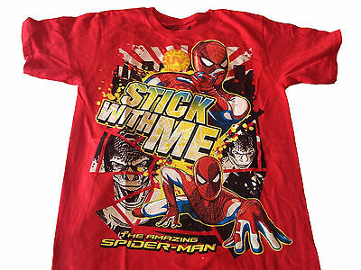 Marvel Comics The Amazing Spiderman Stick With Me UV Activated Vintage T Shirt
