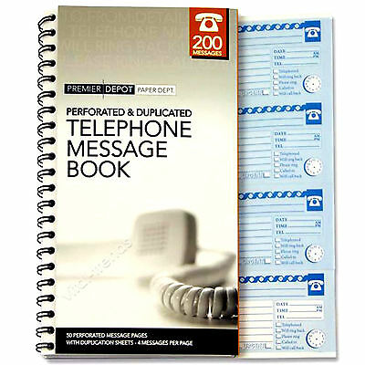 Telephone Message Book  Business Office School Messages Adress Book Memo Pad
