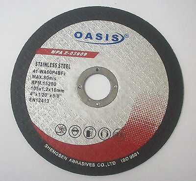 (25) Angle Grinder 4in. Metal & Stainless Steel Cut off Wheel Thin Cutting Discs