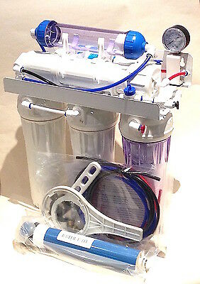 50 g/d 6 Stage Reverse Osmosis System with refillable DI & Backwash