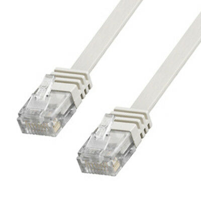 Patchkabel Good Connections® Netzwerkkabel CAT 6 FLACHKABEL LAN DSL grau 7m