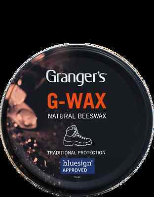 Grangers G-Wax Leather Beeswax Polish Waterproof Conditioner - Boots Shoes