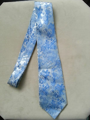 Vintage 'An Exquisite Collection' Tie Blue Silver