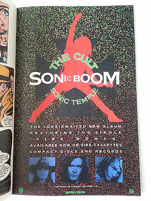 The Cult SONIC BOOM Temple Advertisement Rare