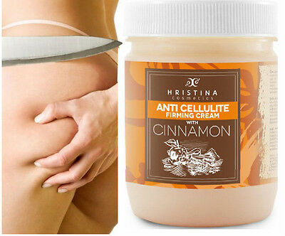 Anti Cellulite Firming Slimming Body Cream CINNAMON Oil All Natural - 200ml
