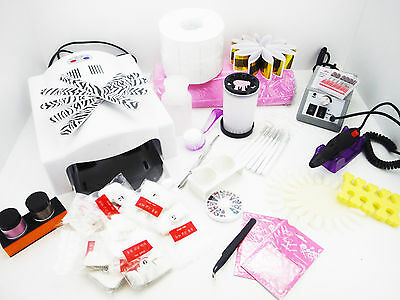Kit Neuf Lampe UV Ponceuse Accessoires Ongles Manucure Nail Art Décoration