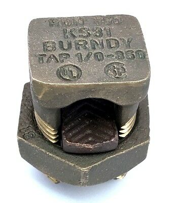 BURNDY KS31 Split Bolt Connector 1/0 - 350
