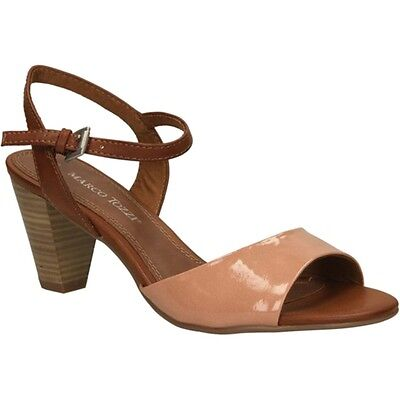 MARCO TOZZI WOMEN'S UK 4, 5 & 6.5 Candy Nude Patent Strappy