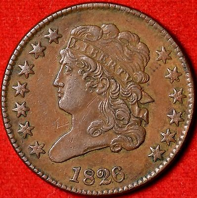 1826 1/2c Almost Uncirculated