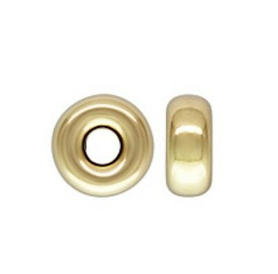 14k Gold Filled 3mm Roundel Spacer Bead Finding  100pcs #6111-1