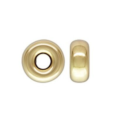 14k Gold Filled 3mm Roundel Spacer Beads 100pcs #6111-1