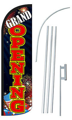 CAR WASH Flag Kit 3' Wide Windless Swooper Feather Advertising Sign