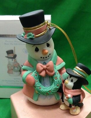 Precious Moments All Decked Out For The Holidays Ornament NIB 5th Annual Snowman