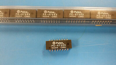 (2 PC) PE-67583 PULSE Telecom Transformer 16Term. Gull Wing SMD