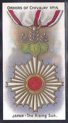 Taddy-Orders Of Chivalry (1St Series)-#14- Quality Military Medals Card!!!