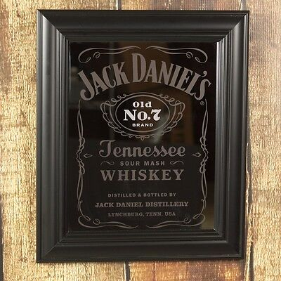 Jack Daniels Old No. 7 Label Bar Mirror - Game Room - Pub - Tennessee Whiskey
