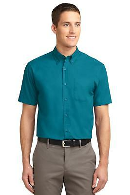 Port Authority S508 Men Short Sleeve Easy Care Shirt Button Down Shirt NEW