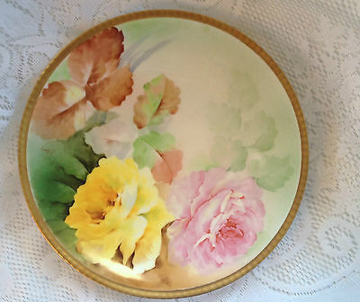 Richard Ginori Signed Numbered Collector plate - Gold Rim (786)
