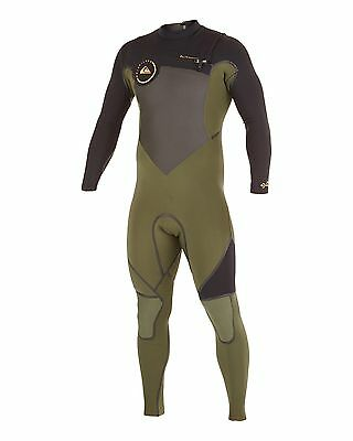 NEW QUIKSILVER™  Mens Syncro 4/3MM LFS Chest Zip Steamer Wetsuit Surf