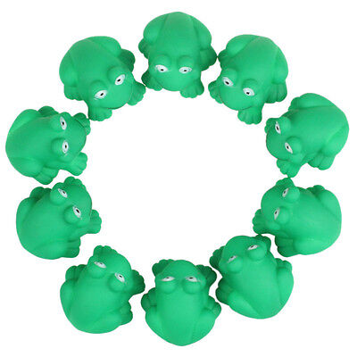 Cute Toys One Dozen Rubber Cute Frog With Sound Shower Favors Baby Toy New Lot