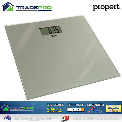 Bathroom Scale Digital Glass PRO Quality Propert® Electronic Scales LCD Silver