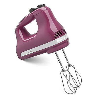 Kitchen Aid KHM512BY 5-Speed Heavy Duty Hand Mixer, Boysenberry