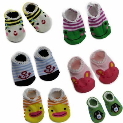 BABY FOOTLETS kids toddler cotton socks anti slip grip boys girls 6-18 months