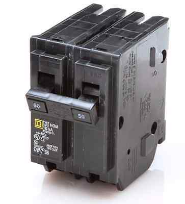 NEW SquareD Homeline CSED 50-Amp 2-Pole 120/240 Volt Circuit-Breaker Load-Switch