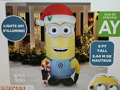 Airblown Kevin Despicable Me Lights Up 8' Foot Tall Xmas Self Inflatable