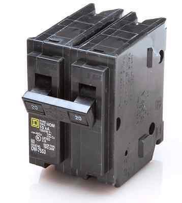 NEW SquareD Homeline CSED 20-Amp 2-Pole 120/240 Volt Circuit-Breaker Load-Switch