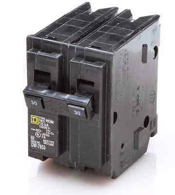 NEW SquareD Homeline CSED 30-Amp 2-Pole 120/240 Volt Circuit-Breaker Load-Switch