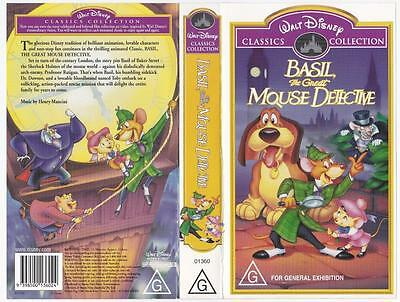 Disney - Basil, The Great Mouse Detective  *rare Vhs Tape*  Classics Collection
