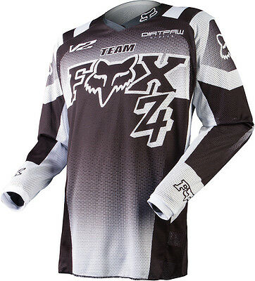 Fox 15 180 Imperial Black White Jersey MX Motocross Sport OffRoad DirtBike Shirt