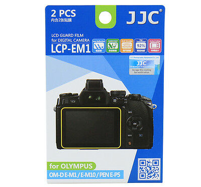 JJC LCD Screen Guard Protector PET Film For OLYMPUS OM-D/E-M1/E-M10/PEN E-P5 2pc