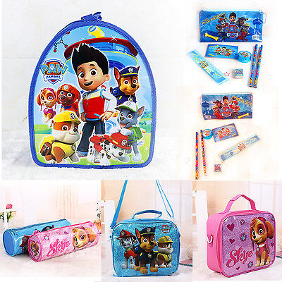 Kids Children Boy Girl Paw Patrol Backpack Schoolbag Bag Stationery Pencil Case