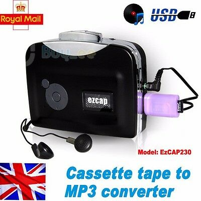Tape to PC USB Cassette-to-MP3 Converter Capture Audio Music Player handy fr UK