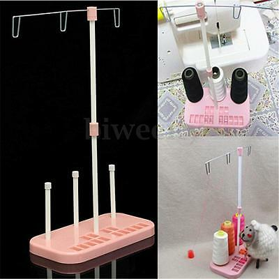 Pink Home Sewing Machine Adjustable Embroidery 3 Thread Spools Plastic Holder