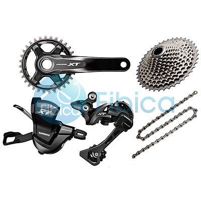 New 2016 Shimano Deore XT M8000 11-speed Groupset Drivetrain Group set 175/170mm