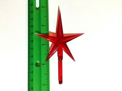 LARGE RED STAR Ceramic Christmas Tree TOPPER
