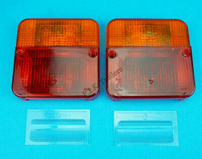 Pack of 2 Perei Replacement Lens for 4 Function Small Rear Trailer Light 0496