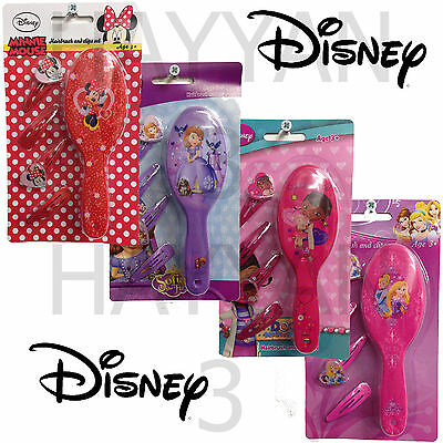 Kids Disney Hairbrush And Clips Set Hair Accessories Girls Gift Toy